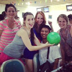 Bowling in Luang Prabang! The only place open after 11pm :)