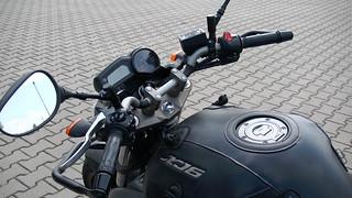 Motocykl Yamaha XJ6 widok z góry