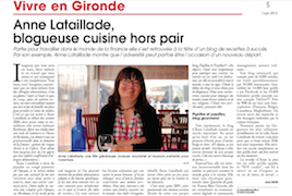 Anne Lataillade, blogueuse cuisine hors pair