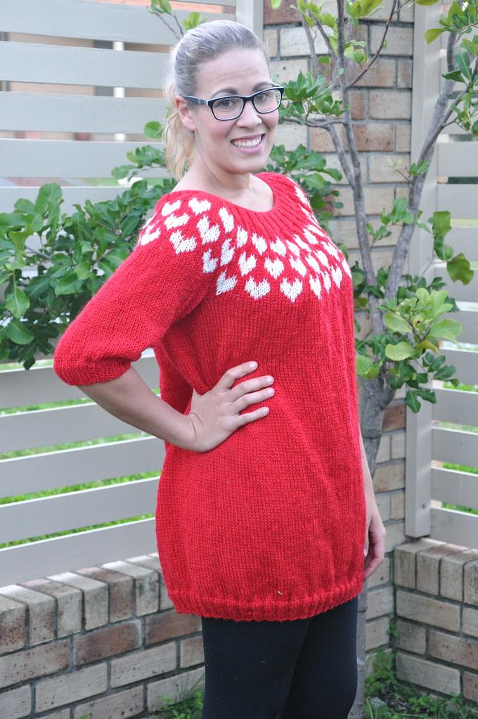 I <3 Me Sweater Jumper Dress pickles