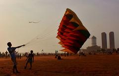 Kids Experiment with Kite in Sri Lanka