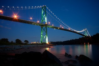 Lions Gate Bridge at sunset