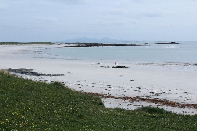 a beach by a nature researve in north uist