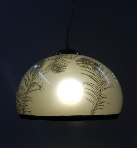Lampara de Acrilico Colgante Gris Plumas by Ludica Iluminacion