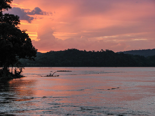 sunset river 2006 marron suriname maroni marowijne marowijneriver bosneger wadaa sunsetmania maroniriver marowijn