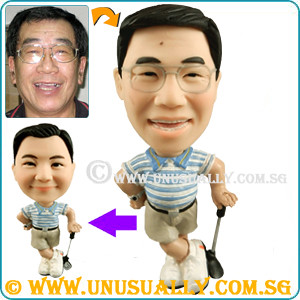 Unusually Personalized 3D Golfer With Tummy Mini Figurine - @www.unusually.com.sg