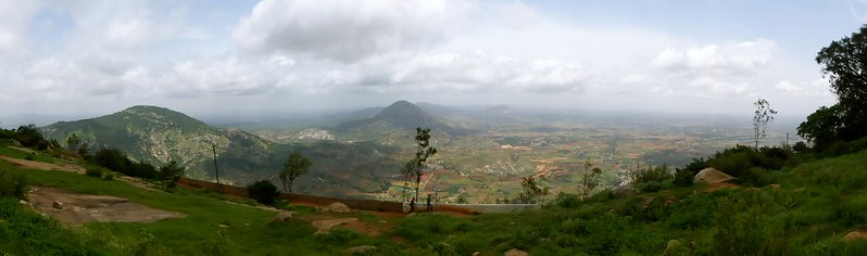 Cycling to Nandi Hills - inside the fort - the view around the hill