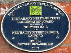 Photo of New Bailey blue plaque