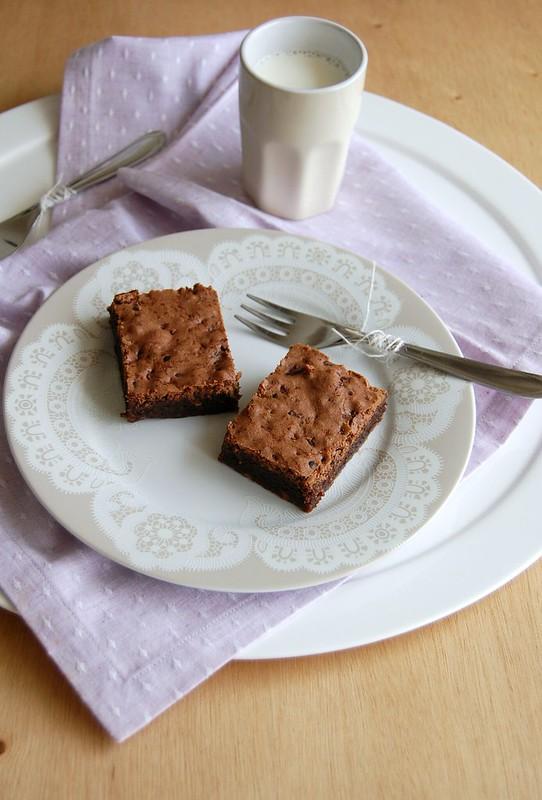 Nib nougatine brownies / Brownies com praliné de semente de cacau
