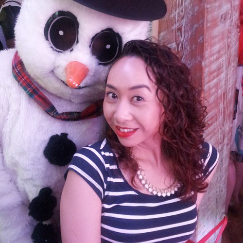 @thebodyshopca colour crush enraptured red #givejoy #snowmanphotobomb