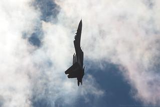 Su-30SM in the bright sunny skies