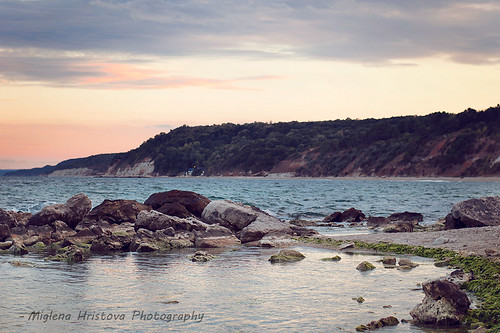 sunset sea summer seascape horizontal clouds landscape bulgaria varna
