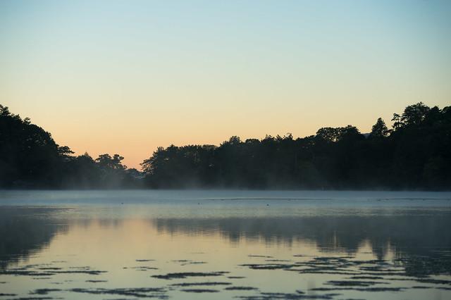 Morning grow in Lake Yunoko