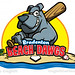 Bradenton Beach Dawgs cartoon logo