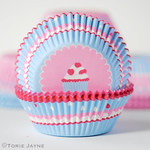 Candy stripe & spot cupcake cases