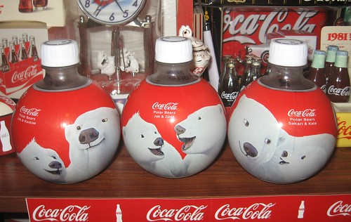 Polar Bears small plastic bottles 2013