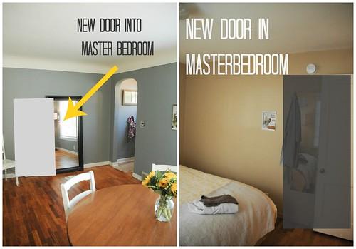 New door in masterbedroom