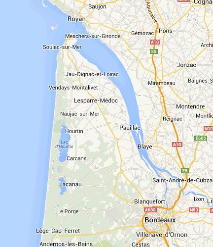 Estuario del Garona y puerto de Burdeos
