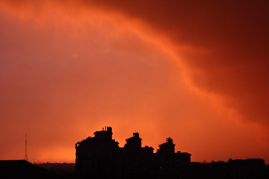 sunsets, october - december 2013.