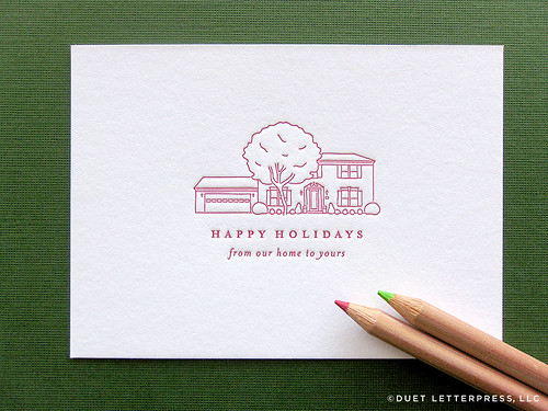 custom house illustration holiday cards // house no. 51