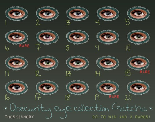 Different Shades Of Blue Eyes Chart Obscurity eyes gatcha chart