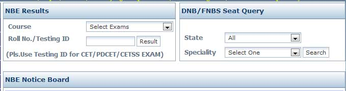 DNB CET Result   July 2014   results nat board  Image