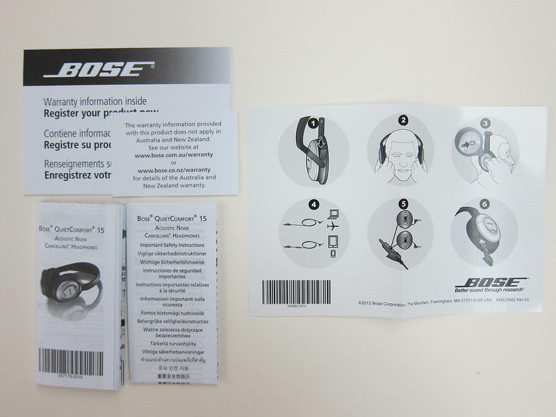 Bose QC15 - Instructions