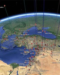 Antioch coin hoard map