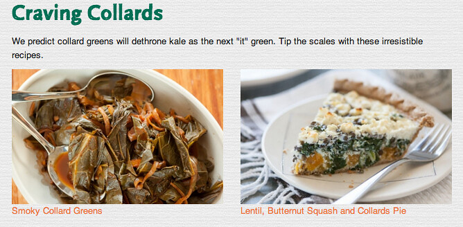 "an ad from whole foods says collard greens are the new ""it"" food"