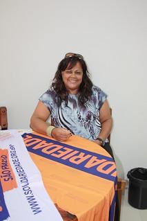 Lucia Guerra em visita à sede estadual do Solidariedade-SP