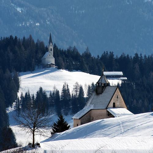 schnee winter italy kirchen südtirol altoadige wipptal stmagdalena eisacktal ridnauntal ridnauntelfesthuins