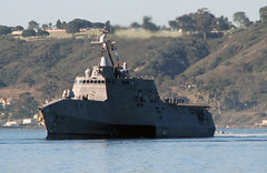USS Coronado (LCS 4) transits San Diego Bay, March 10. (U.S. Navy/Doug Sayers)
