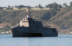 USS Coronado (LCS 4) transits San Diego Bay, March 10. (U.S. Navy/Doug Sayers)