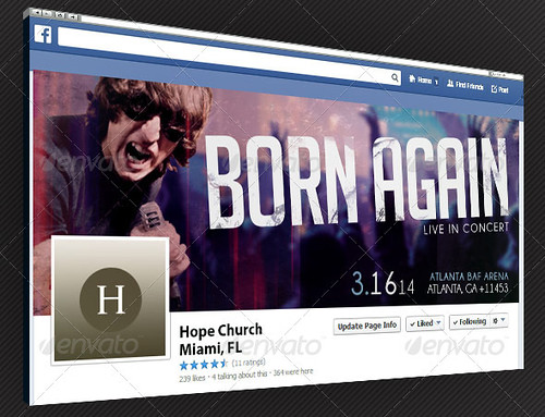 Gospel Rock Band Facebook Timeline Cover Template
