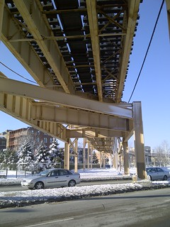 Englewood Green Line Elevated Tracks over 63rd St.