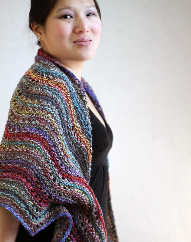 Feather and Fan Comfort Shawl