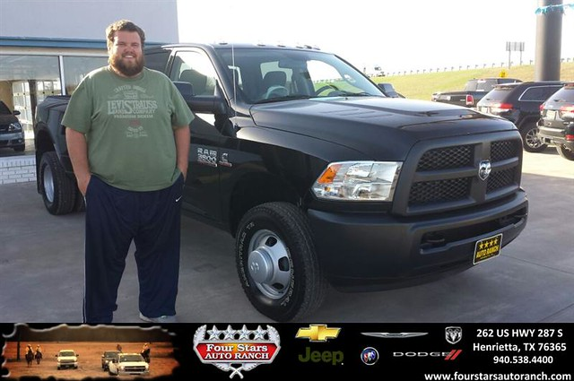 congratulations to zane hilbers on your ram 3500 purchase from tracey frerich at four stars. Black Bedroom Furniture Sets. Home Design Ideas