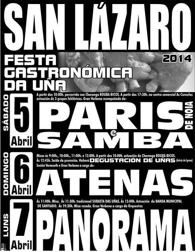 Santiago de Compostela 2014 - Festa da Uña en San Lázaro - cartel