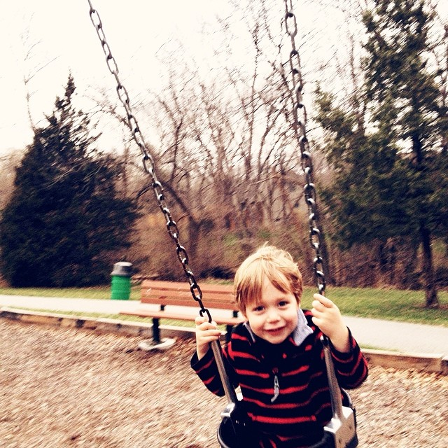 Evening walk to the park with this little man #love #365grateful