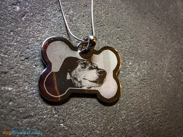 Dog on a pet photo pendant