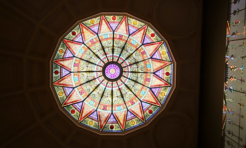 Stained Glass Skylight and Reflections - Lehigh University