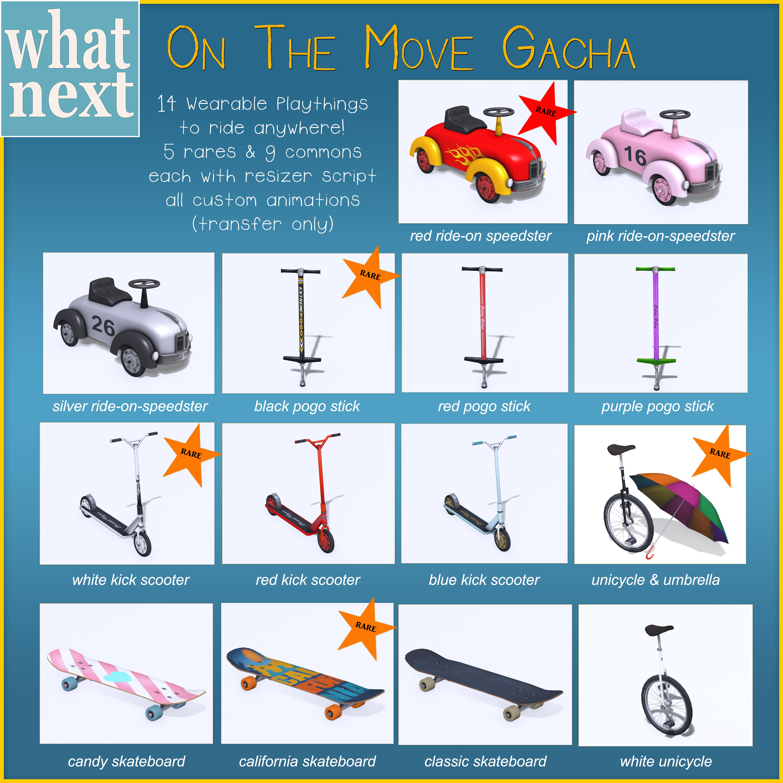{what next} 'On The Move' Gacha Key