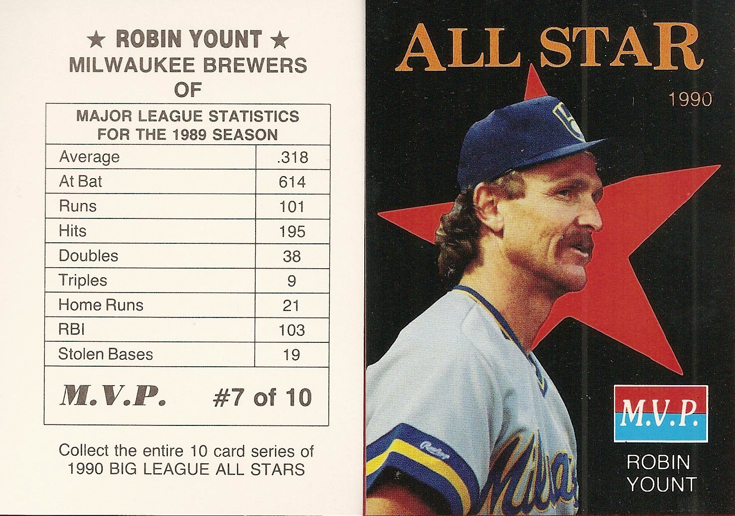 1990 Big League All-Stars MVP (black with red star)