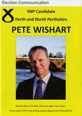 Leaflet for Pete Wishart, SNP candidate for Perth and North Perthshire