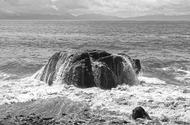 Pacific & the rock - Juan de Fuca trail