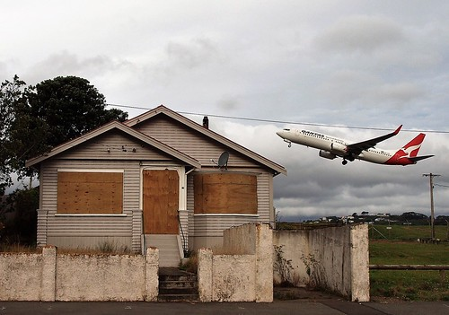 <p>Wellington Airport's expansion plans have led to the boarding-up or demolition of lots of houses on Bridge Street, creating a scene reminiscent of Baltimore.</p>