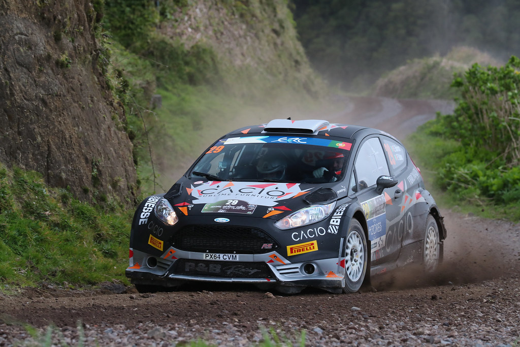 29 BARROS Elias BABO Paulo Ford Fiesta R5 Action during the 2017 European Rally Championship ERC Azores rally,  from March 30  to April 1, at Ponta Delgada Portugal - Photo Gregory Lenormand / DPPI
