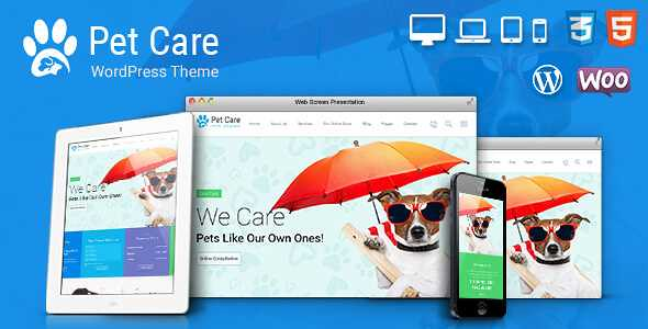 Pet Care WordPress Theme free download