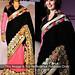 Divyanka Pink And Black Half Half Saree Sarees on Shimply.com