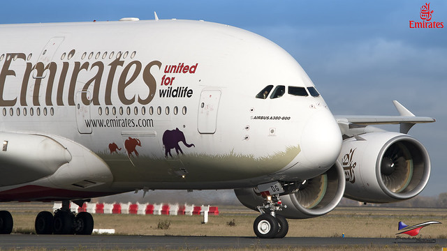 Emirates / Airbus A380-861 / A6-EDG / United for Wildlife